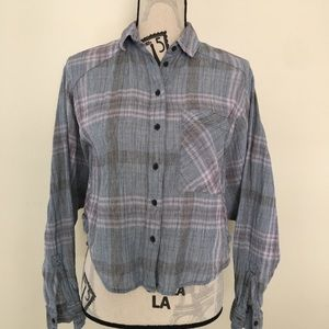 Free People Plaid Crop Top Size XS